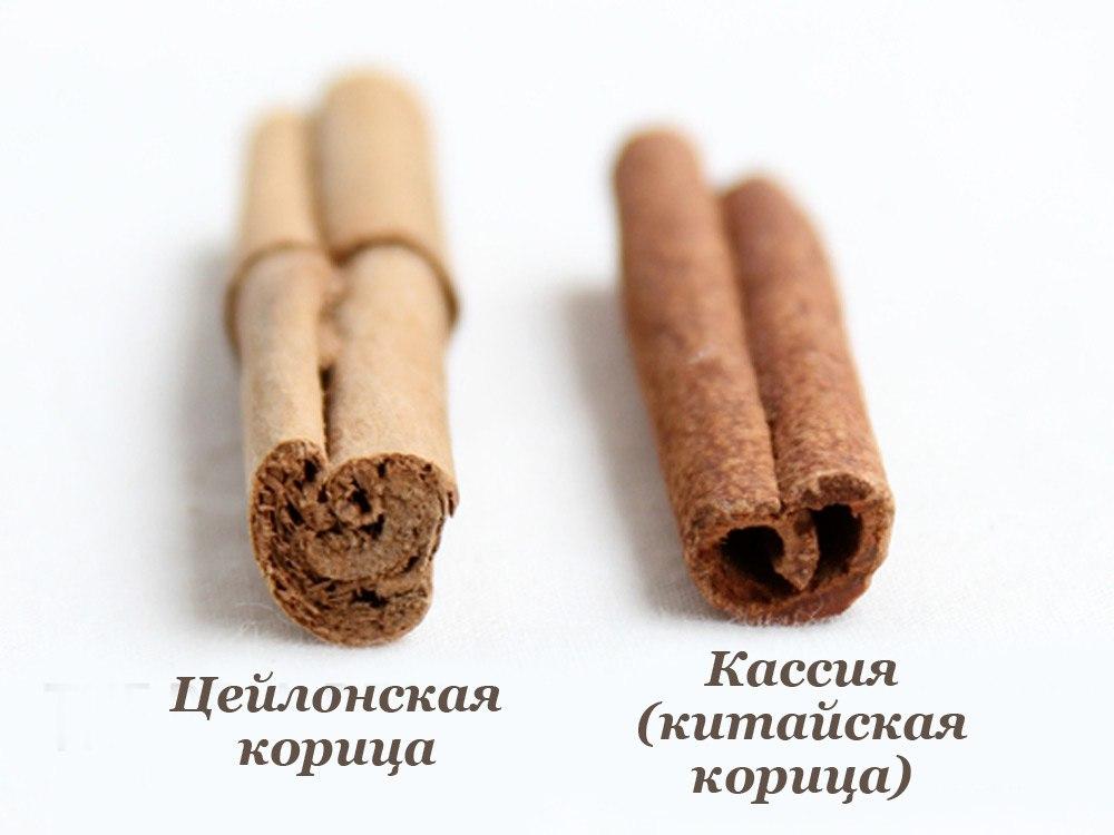 Корица и кассия-две разные пряности, которые мы путаем.